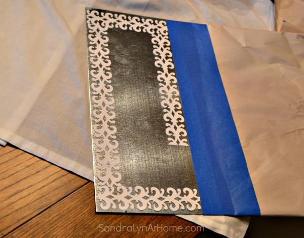 Magnetic Spice Board- stencil border -- Sondra Lyn at Home