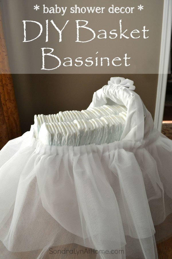 Baby Shower Decor - DIY Basket Bassinet -Sondra Lyn at Home