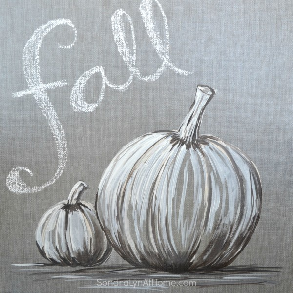 Fall Pumpkin - Acrylic on Tile- Sondra Lyn at Home.com