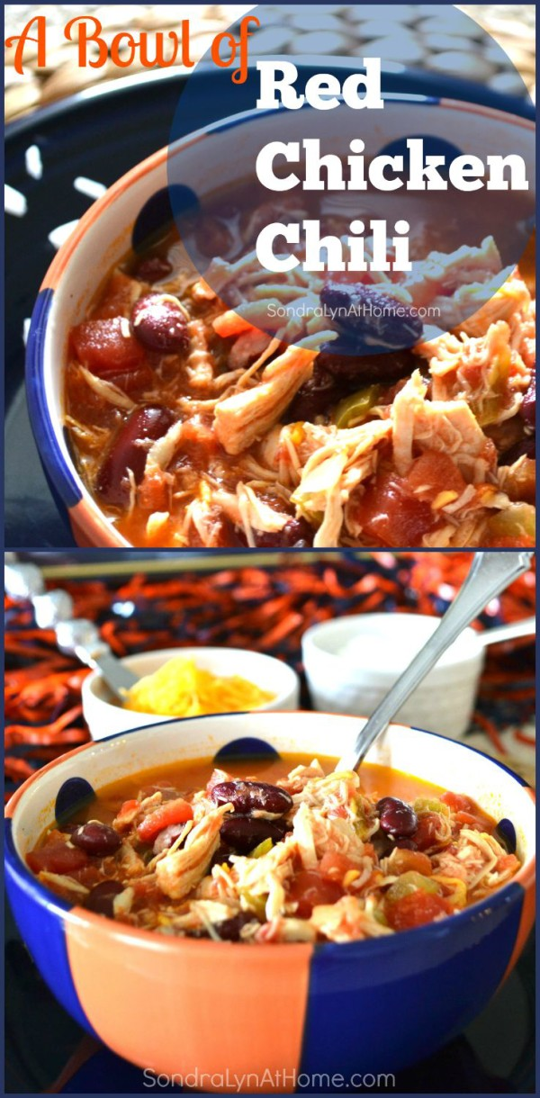 Red Chicken Chili Recipe --- Sondra Lyn at Home