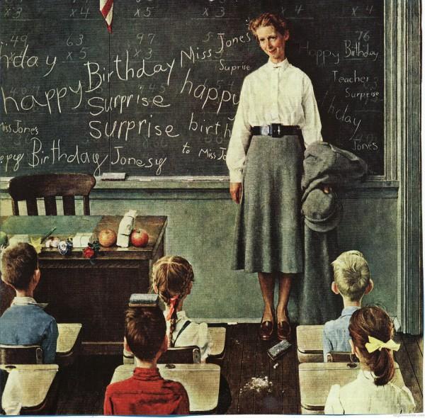 norman_rockwell_school_teacher_classroom