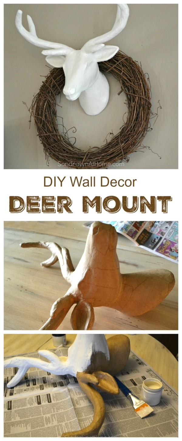 DIY Wall Decor Deer Mount - Sondra Lyn at Home.com