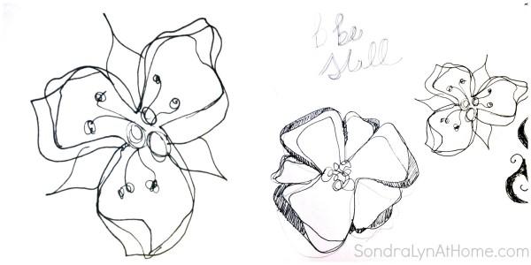 Doodling practice - SondraLynAtHome.com