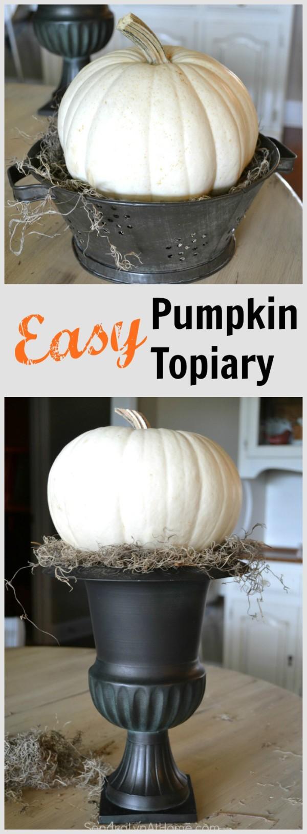 Easy PumpkinTopiary- SondraLyn at Home