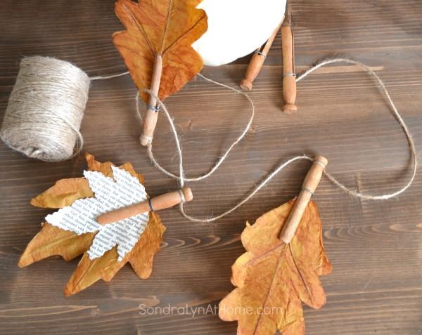 Fall Leaf Banner - - Sondra Lyn At Home.com