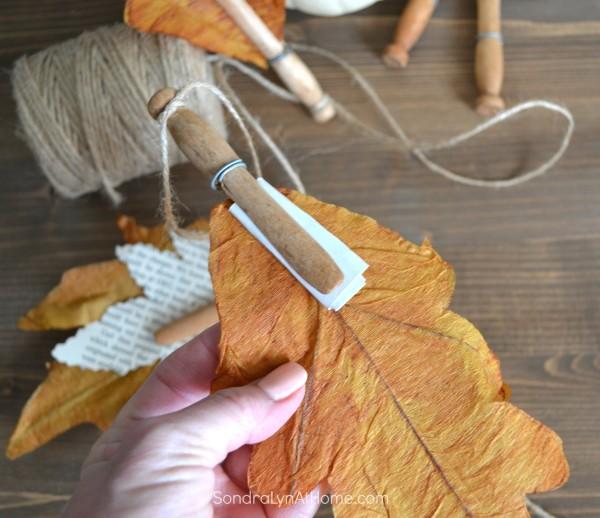 Fall Leaf Banner --- Sondra Lyn At Home.com