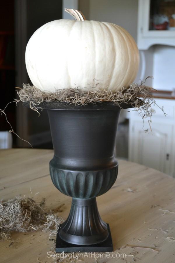 How to Make an Easy Pumpkin Topiary - Sondra Lyn at Home