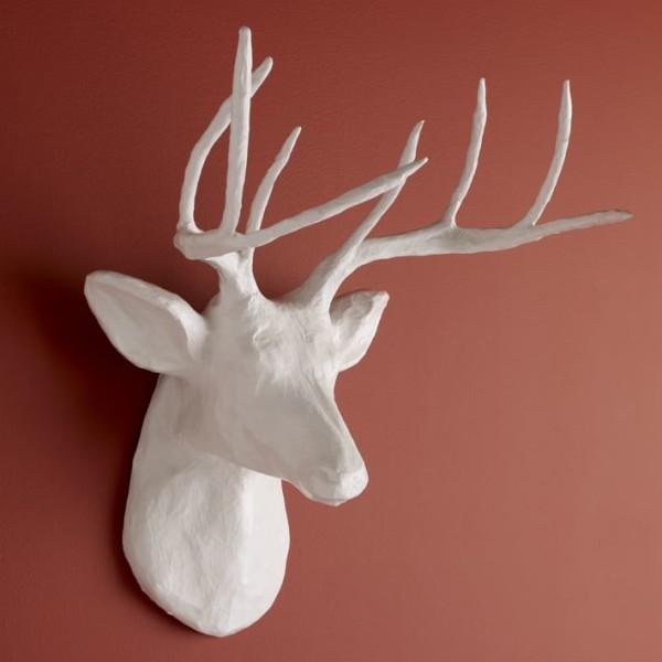 westelm paper mache deer head3