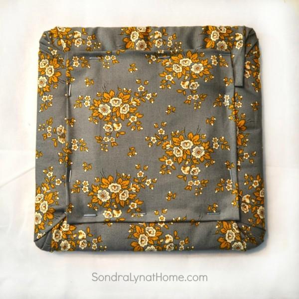 DIY Fabric Photo Frame - back of frame - 736x736- Sondra Lyn at Home.com