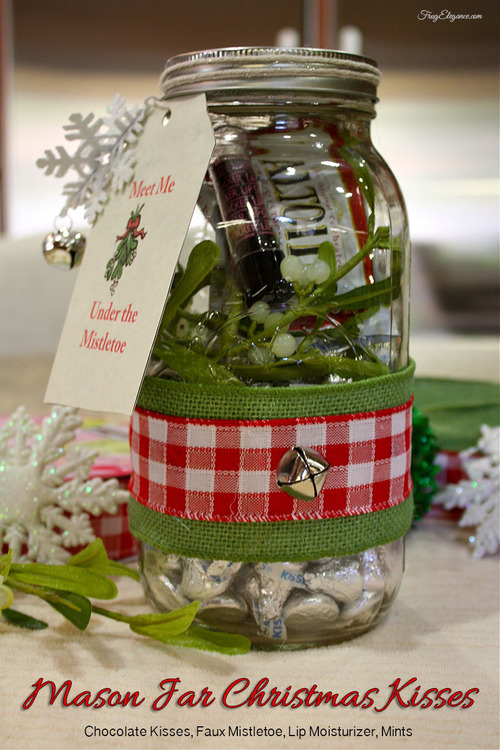 Mason Jar Christmas Kisses