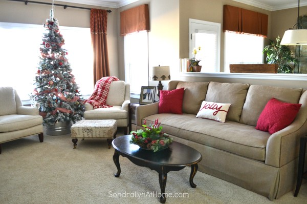 Family Room at Christmas - All Through the House Tour - Sondra Lyn at Home