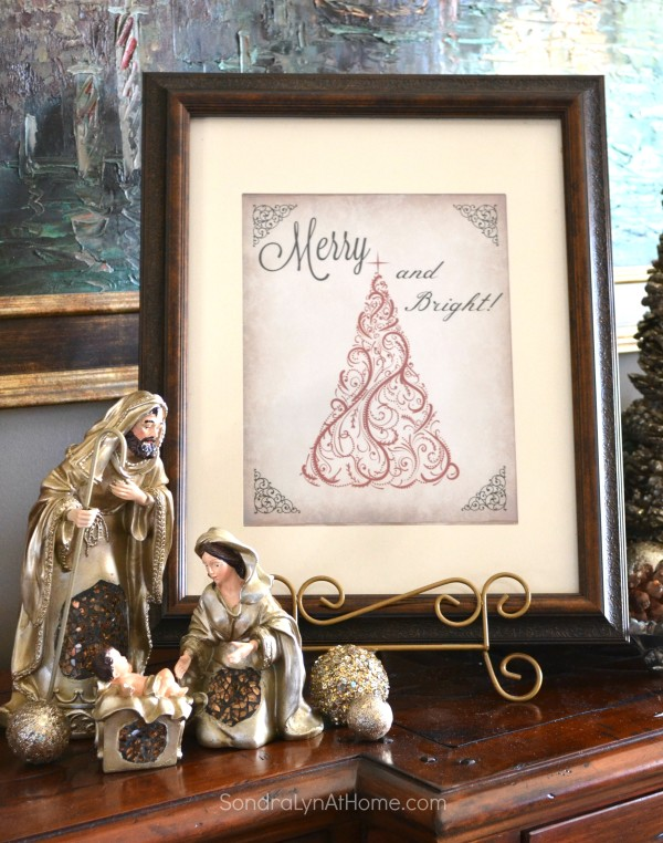 Holiday Buffet 2015 - with printable - Sondra Lyn at Home.com