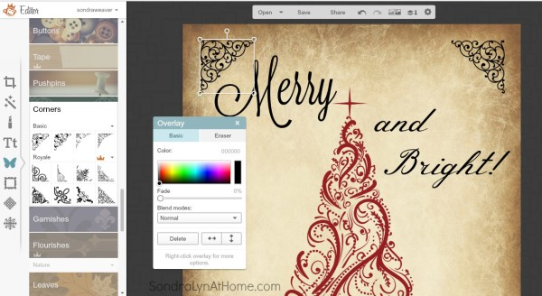 How to Make a Printable - add embellishments - Sondra Lyn at Home.com