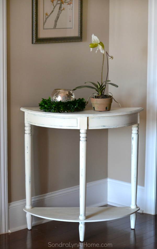 Side Table Makeover with Folk Art Chalk -- after ---- Sondra Lyn at Home.com