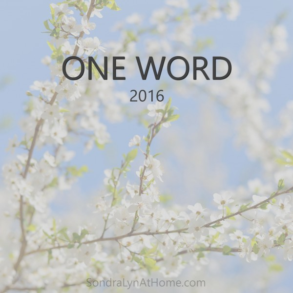 One Word 2016 - Sondra Lyn at Home