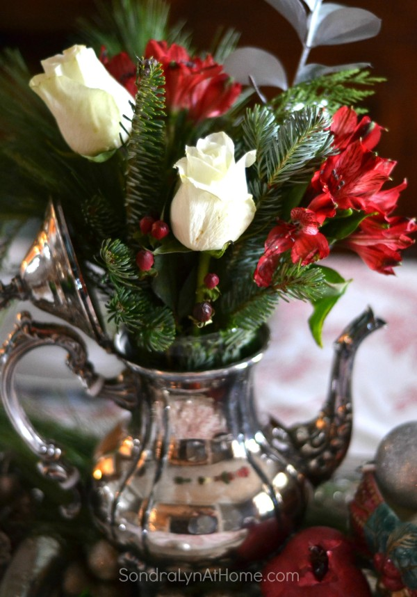 Teapot Flower Arrangement - Sondra Lyn at Home