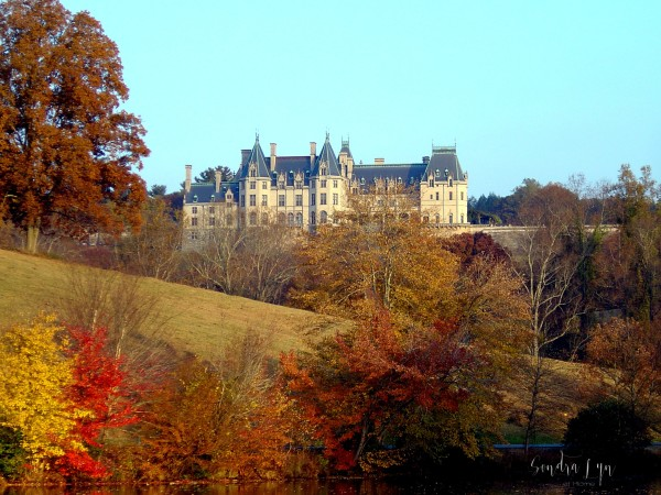 Biltmore From Bass Pond in Fall - Sondra Lyn at Home.com