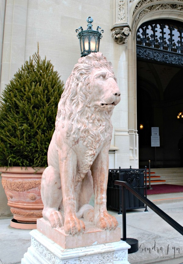 Lion at front door to Biltmore Estate -- Sondra Lyn at Home.com