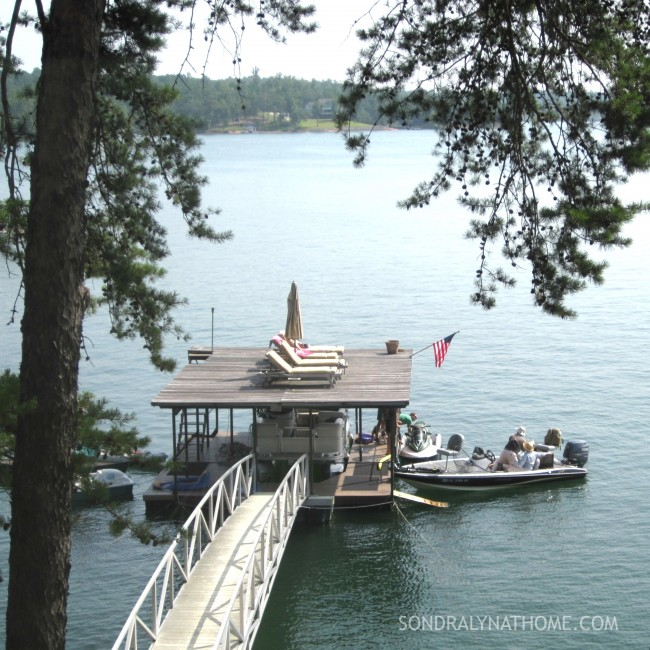 Boat House and Deck from Lake House - Sondra Lyn at Home.com