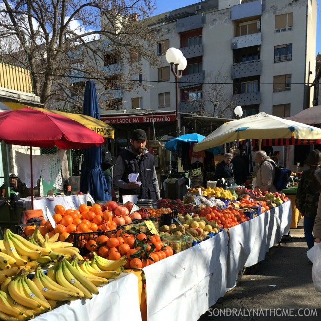 Eating My Way Through Europe - Diocletian's Palace-Open Air Market-Split,Croatia