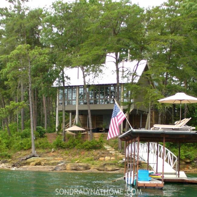 Lake House from boat - Sondra Lyn at Home.com