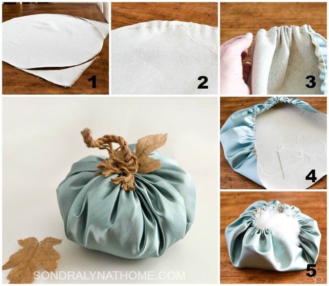 how-to-make-a-fabric-pumpkin-one of two ways - sondralynathome.com