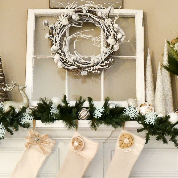 winter-white-christmas-mantel-wreathdetail-sondra-lyn-at-home-com