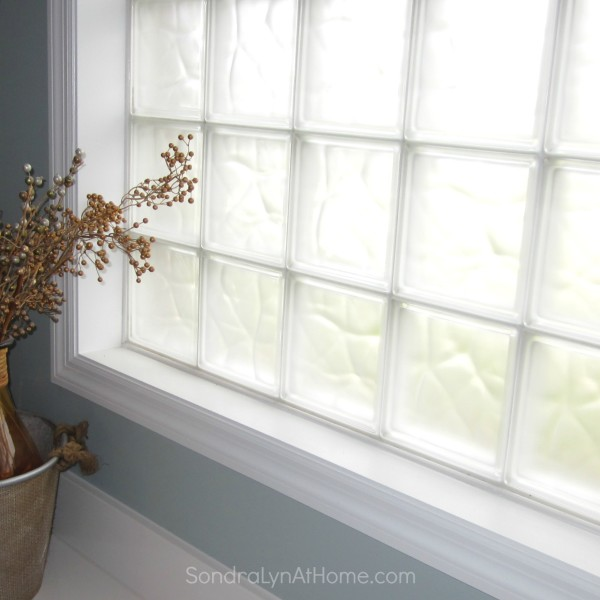 Frosted Glass Block Windows --- Sondra Lyn at Home.com