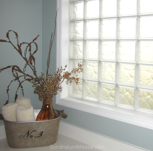 Frosted Glass Block Windows --Sondra Lyn at Home.com