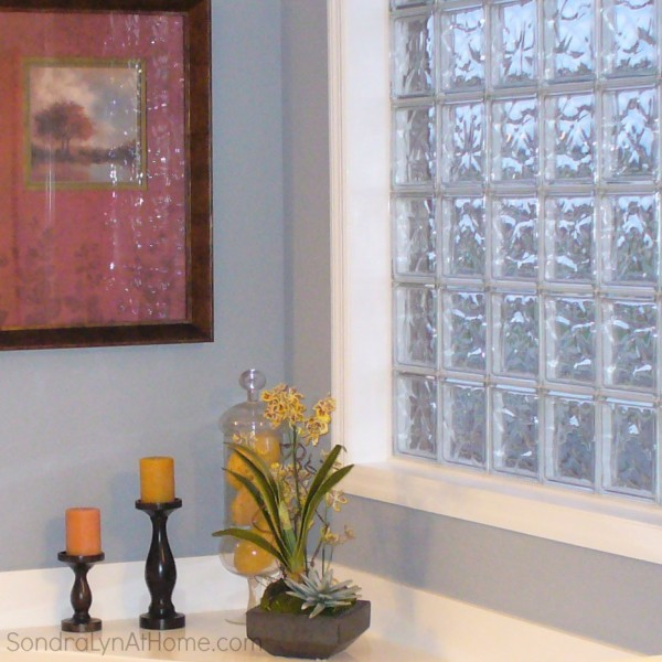 Glass Block Windows- before - Sondra Lyn at Home.com