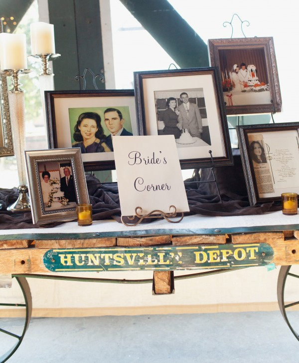 Bride's Corner - Share a Nostalgic Wedding Vignette at the Reception! - Sondra Lyn at Home