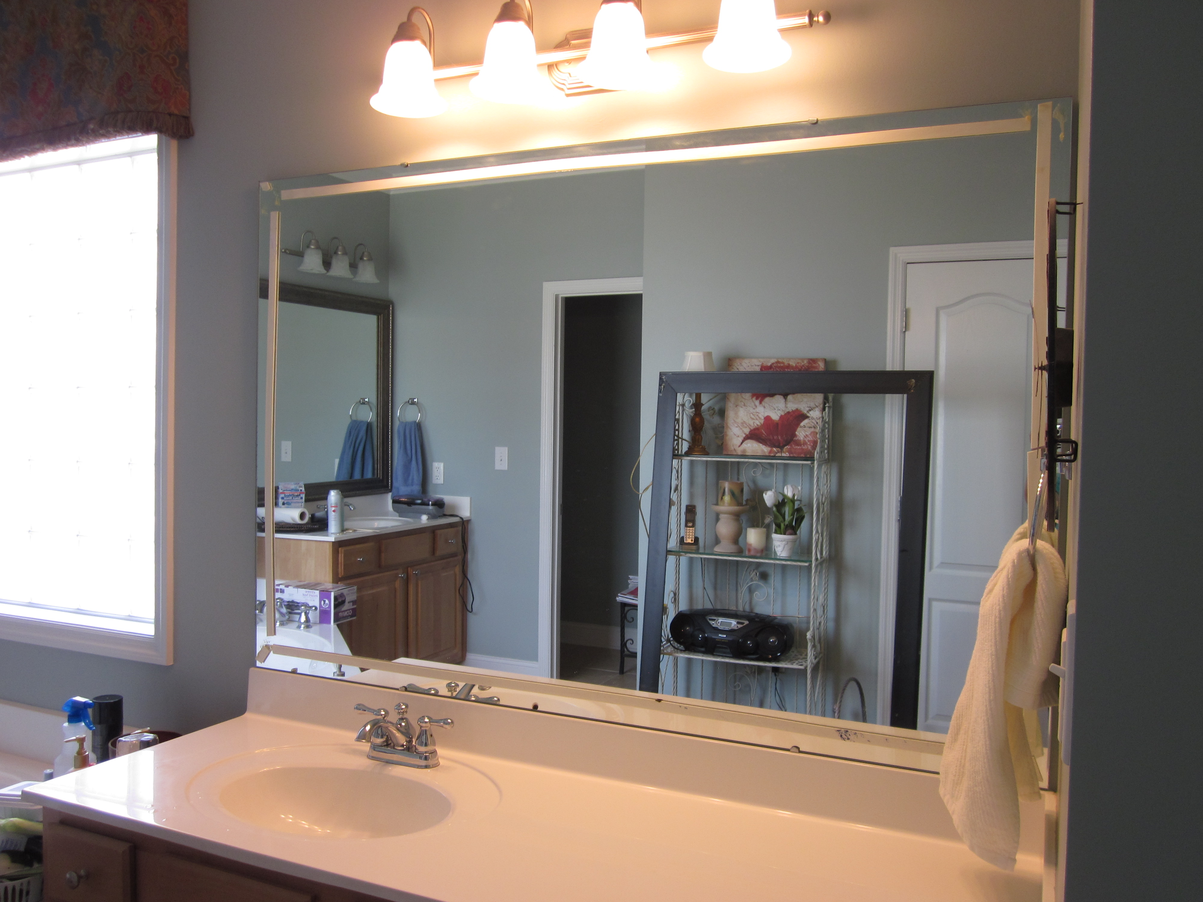 How To Frame Existing Bathroom Mirrors