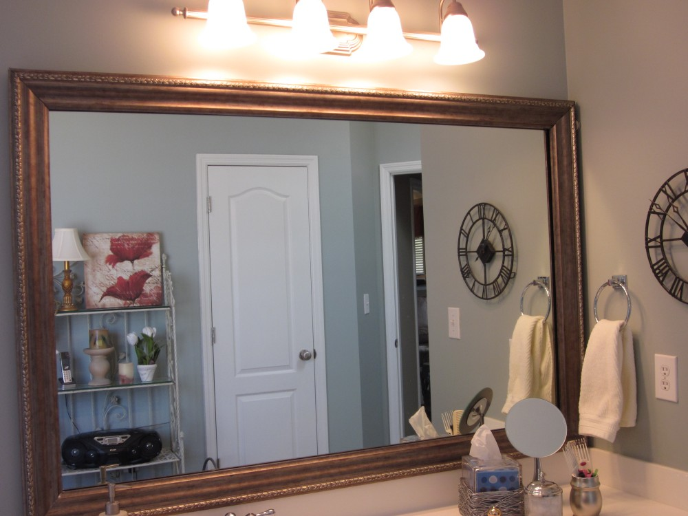 how to frame existing bathroom mirrors lyn at home 26093