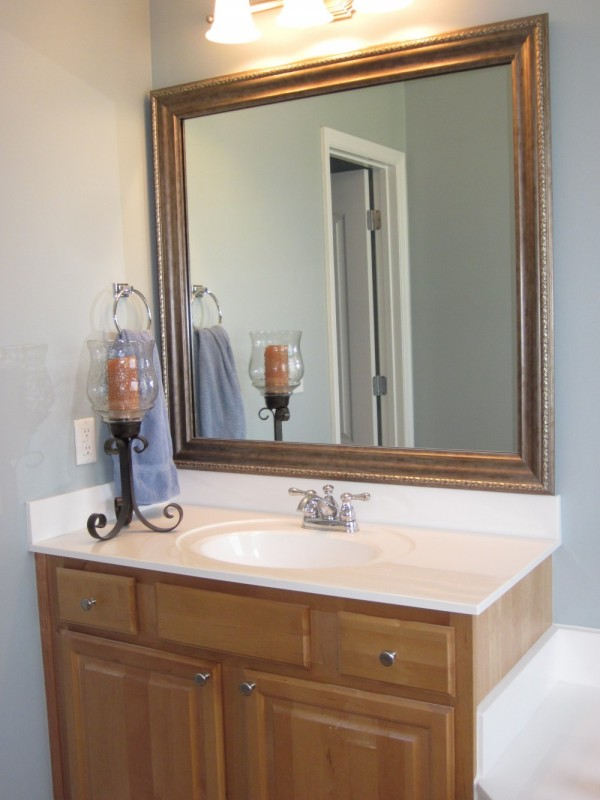 frame existing bathroom mirror how to frame existing bathroom mirrors lyn at home 18379