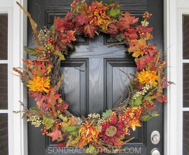How to make a Fabulous Fall Wreath- - Sondra Lyn at Home.com