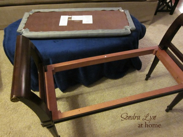 How to Recover a Bench- Thrift Store Thursday