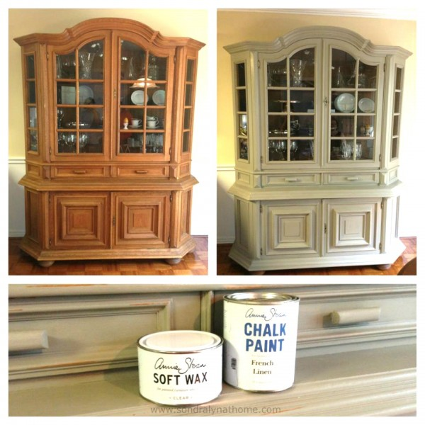 Gentil China Cabinet Chalk Paint Makeover Bu0026A  Sondra Lyn At Home