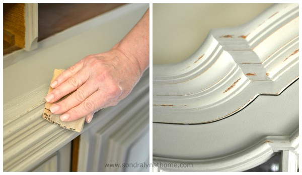 China Cabinet Chalk Paint Makeover -Distressing-- Sondra Lyn at Home
