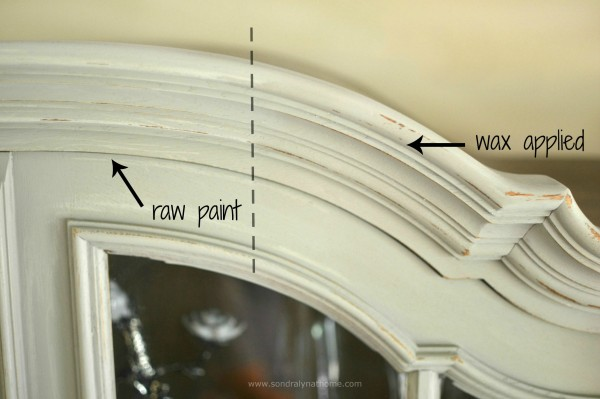 China Cabinet Chalk Paint Makeover -w- Sondra Lyn at Home
