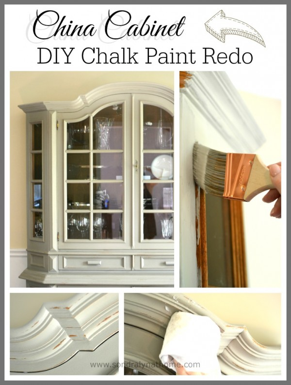 Beau China Cabinet Chalk Paint Makeover