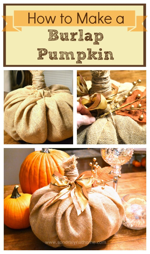 How to Make a Burlap Pumpkin