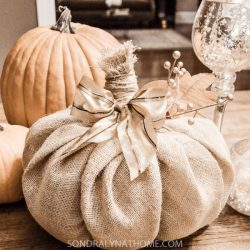 How to Make a Burlap Pumpkin --tutorial-- Sondra Lyn at Home.com
