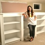 How to Build a Bookcase Wall - Sondra Lyn at Home.com