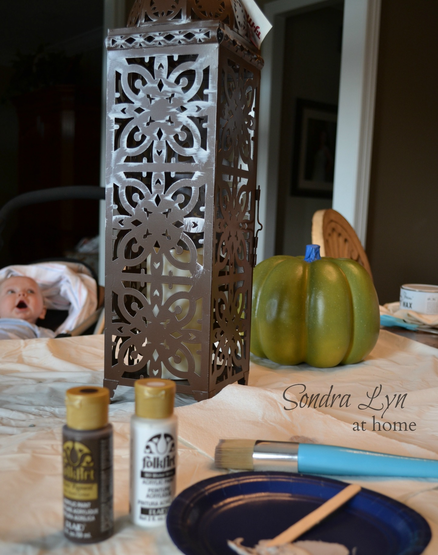 How to Antique a Metal Lantern