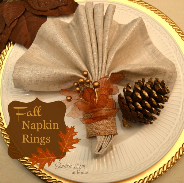 Napkin Folding Ideas Rings Thanksgiving