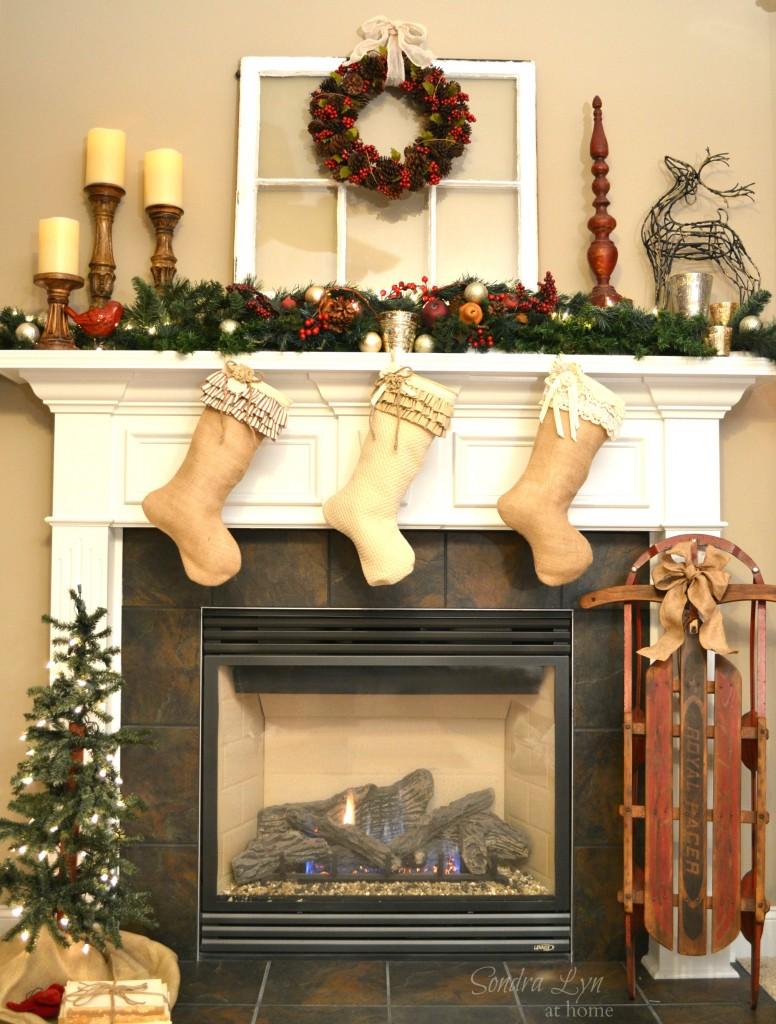 Create a Nostalgic Christmas Mantel - Sondra Lyn at Home