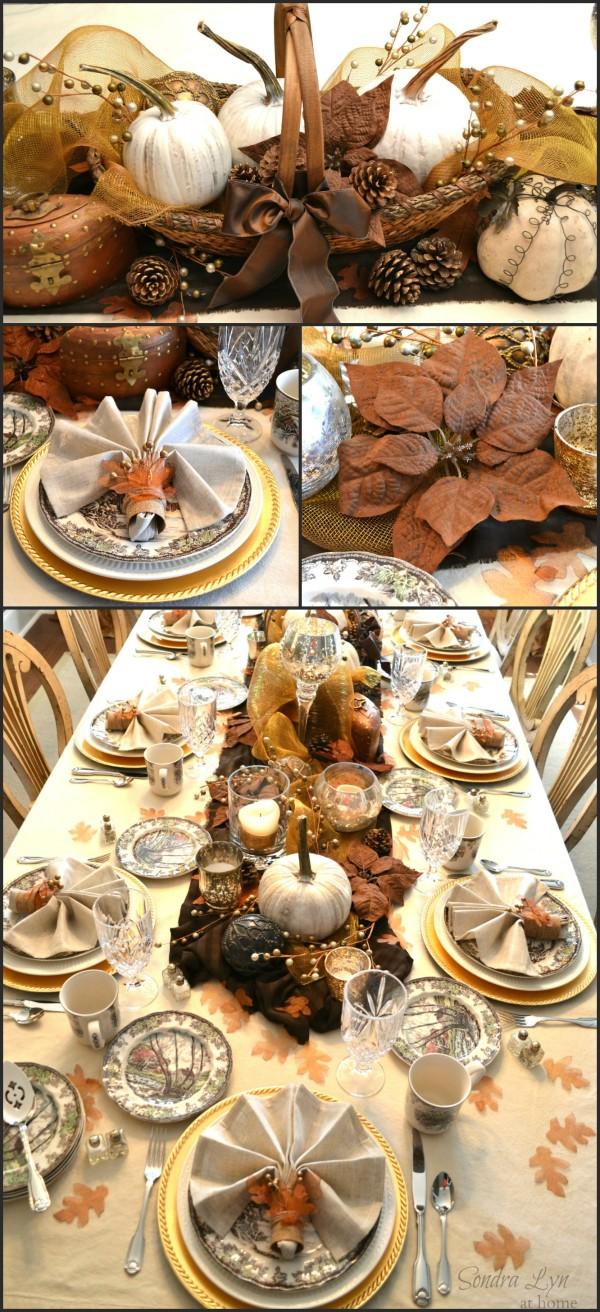 Rustic Glam Fall Tablescape from Sondra Lyn at Home