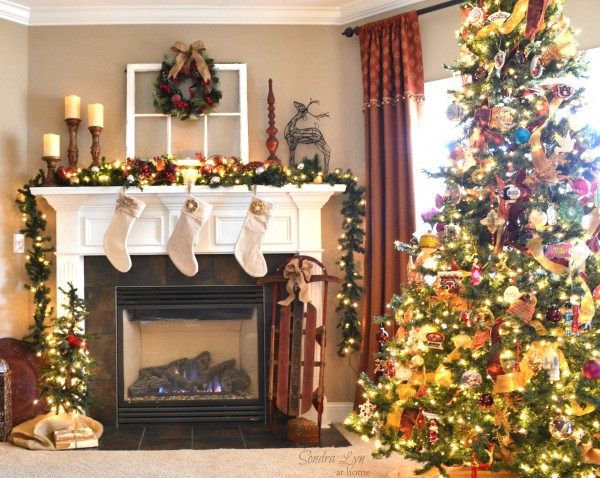 Christmas Home Tour 2013-Mantel-Sondra Lyn at Home