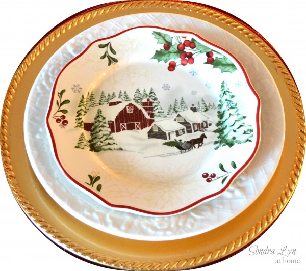 Red Bird Tablescape-Dishes-Sondra Lyn at Home