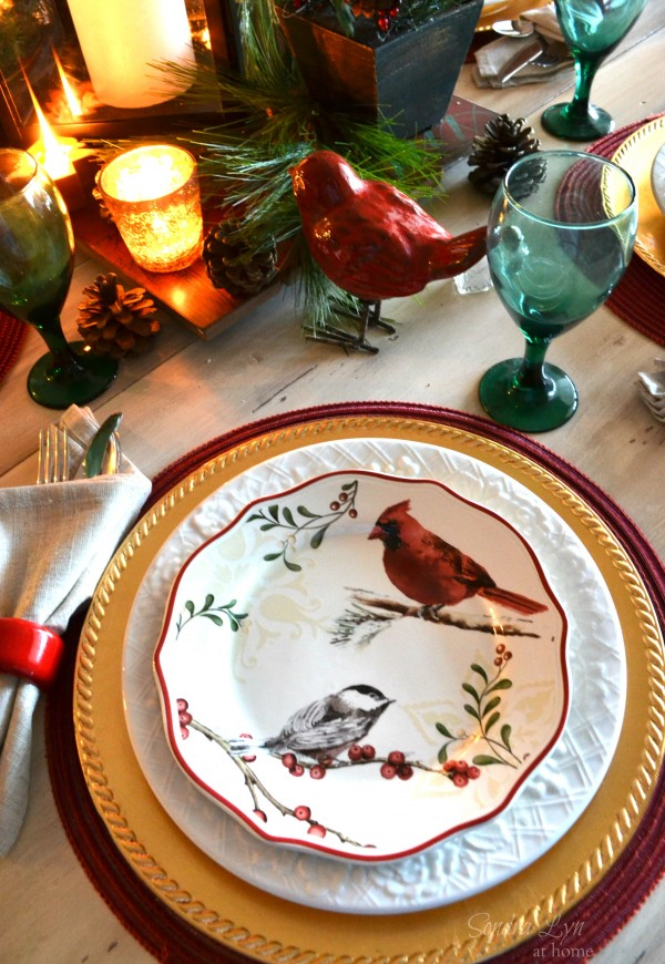 Red Bird Tablescape2-Sondra Lyn at Home